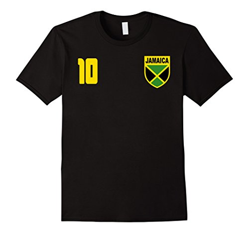 Mens Jamaica Jamaican Football Futbol Soccer T-Shirt Large Black