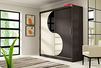 LUCA 5 Modern Wardrobe with Sliding Doors Custom Colour