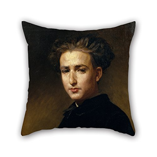 20 X 20 Inches / 50 By 50 Cm Oil Painting Antoni Caba - Portrait Of The Painter Ramon Padró Throw Pillow Covers ,each Side Ornament And Gift To Teens Boys,office,couples,teens Boys,bench,gf]()