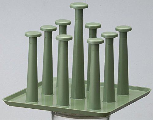 Fashionclubs Plastic Cups Drying Holder Rack,Drainer Dryer Tray Holder Stand For 9 Mugs (Green) by Fashionclubs