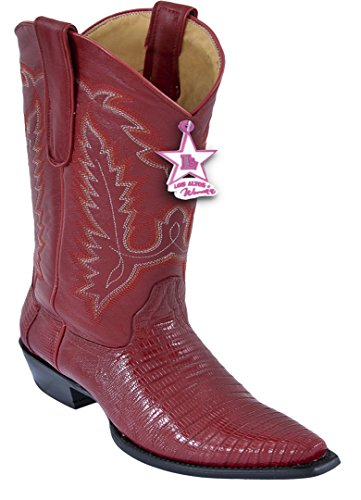 Damene Klipp Tå Ekte Skinn Teju Hud Vestlige Støvler Rød