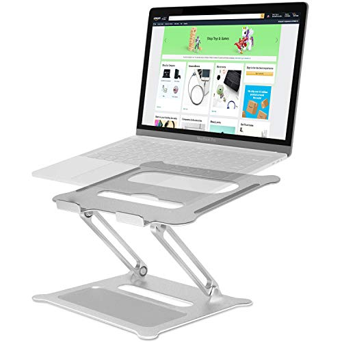Adjustable Laptop Stand with Heat-Vent, Aluminum Ergonomic Portable Notebook Stand Riser Holder Computer Stand Compatible with MacBook, Lenovo, HP, Dell, Up to 17""