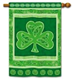 St Patricks Day Banner Flag - Celtic Knots