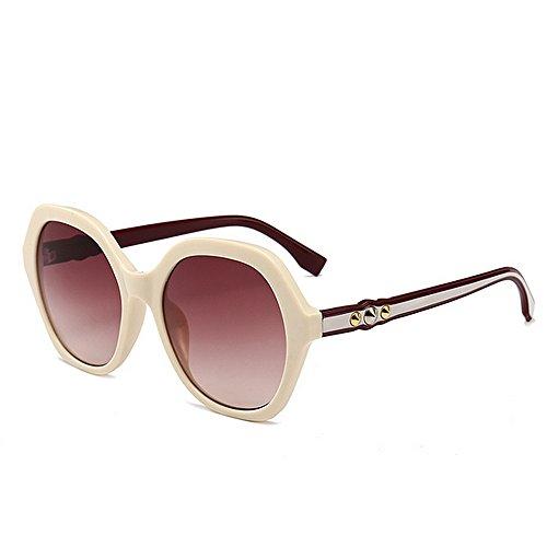 Mujeres para Conducir Irregulares para protección de Lentes la Tonos Ojos polígono del Las Godbb la Proteccion Las Vacaciones de del de Sol Personalidad de la Ultravioleta Verano de Playa C6 de Moda wY67RU