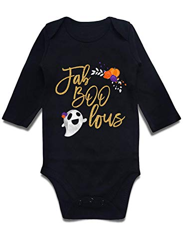 Uideazone Infant Baby Boys Girls Halloween Costume Romper Black Bodysuit Jumpsuit