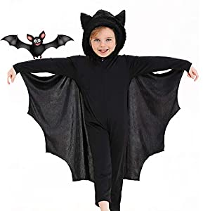 Seawhisper Bat Costume for Kids Halloween Costume for Kids 3T 4T 4 5 6 7 8