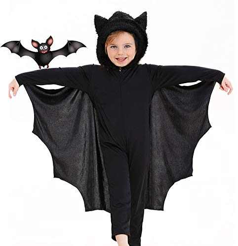Seawhisper Bat Costume for Kids Halloween Costume for Kids 2T 3T 4T Boys Girls Black