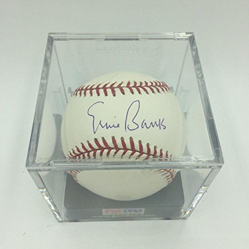 Ernie Banks Autographed Baseball - Beautiful Major League COA Graded MINT 9 - PSA/DNA Certified - Autographed Baseballs