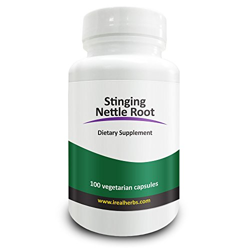 Real Herbs Stinging Nettle Root Extract Standardized to 1% Silica - Nettle Root Powder for Prostate and Urinary Tract Health and Increased Testosterone - 100 Vegetarian Stinging Nettle Capsules
