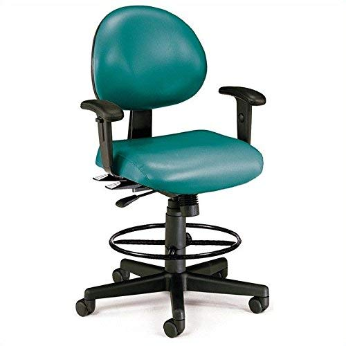- OFM 241-VAM-AADK-62 24 Hours Anti-Microbial/Anti-Bacterial Vinyl Computer Task Chair with Arms, Drafting Kit