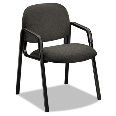HON Solutions Seating 4003 Side-Arm Guest Chair - Steel Black Frame23.5amp;quot; x 24.5amp;quot; x 32amp;quot; - Olefin Gray Seat ()