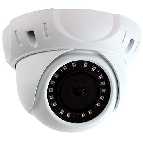 GW Security 8MP (3840×2160) Sony CMOS 3.6mm Wide Angle Outdoor Indoor Onvif H.265 4K 2160p PoE IP Dome Camera (White)