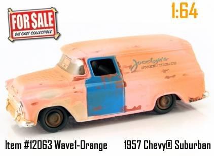 Jada Toys Dub City For Sale Orange 1957 Chevy Suburban 1:...