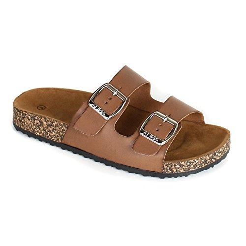 ANNA Women's Casual Buckle Straps Sandals Flip Flop Platform Footbed (11, (Anna Shoe)