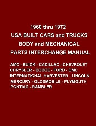 American Products Manifold (Auto Parts Interchange Manual 1960-1972 Ford Chevrolet Buick Mercury Plymouth)