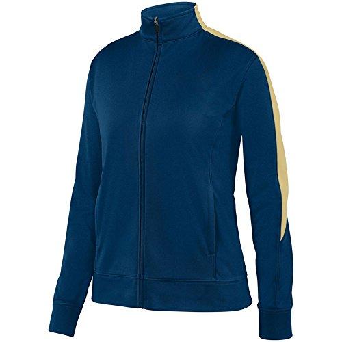 Augusta Sports Ladies Medalist Jacket 2.0, Navy/Vegas Gold, XX Large