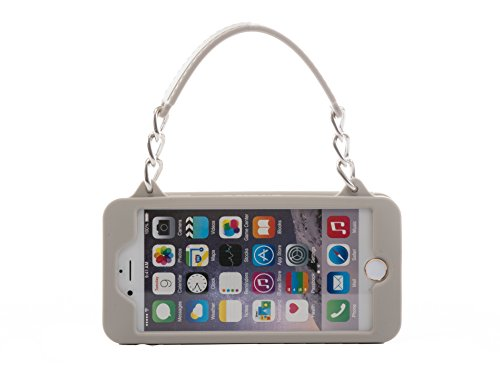 iPhone 6 Plus Case / iPhone 6s Plus Purse Case 5.5 inch display pursecase Smartphone Case Wristlet Clutch and Crossbody Chain with Wallet Purse Case Bundle as seen on Shark Tank (Grey with Silver)