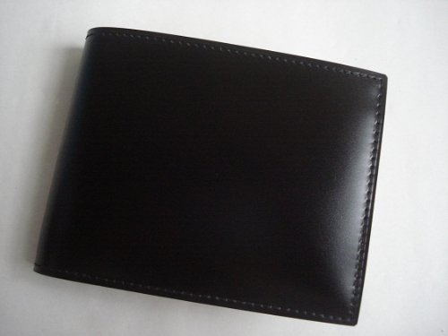 GANZO(ガンゾ)cordvan コードバン 折財布 ブラック B00A4AR8BU