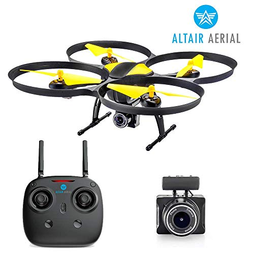 Altair 818 Hornet Beginner Drone with Camera, Live Video Drone for Kids & Adults w FPV, 15 Min Flight Time, Altitude Hold, Personal Hobby Starter RC Quadcopter for All Ages & Levels.
