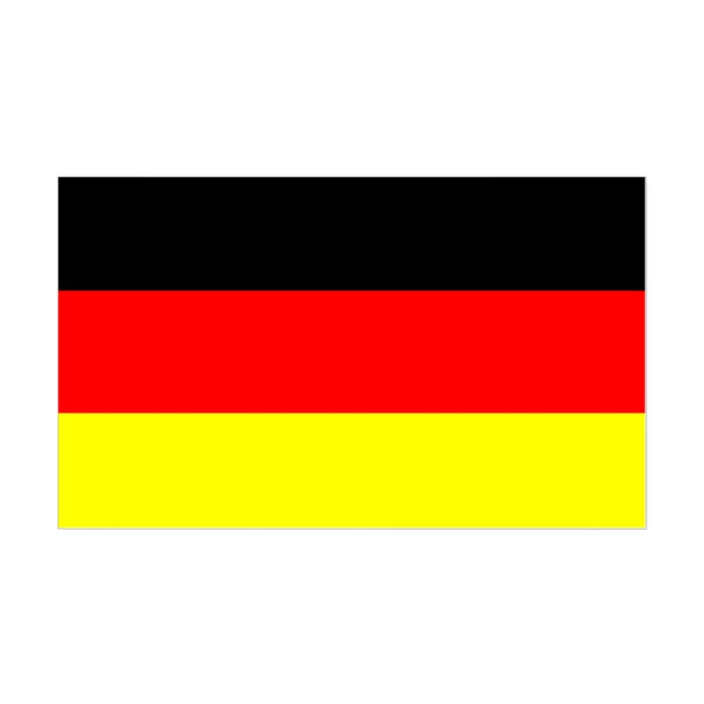 Amazon com cafepress german flag sticker 3x5 rectangle bumper sticker car decal home kitchen