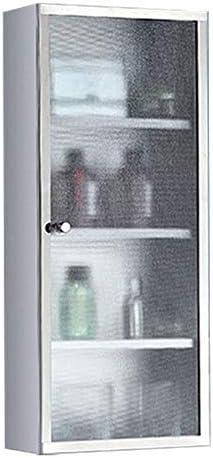 ミラーキャビネット 浴室の壁のキャビネットステンレス鋼の医学キャビネット多目的収納オーガナイザーキッチン食器棚 (Color : Silver, Size : 25x80x13cm)