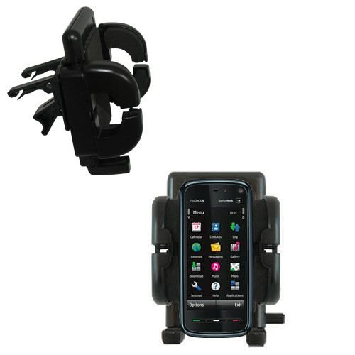 Gomadic Air Vent Clip Based Cradle Holder Car / Auto Mount suitable for the Nokia 5800 -