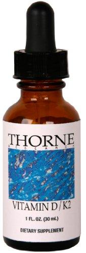 RECHERCHE THORNE - Vitamine D / K2 liquide - 1 oz [Santé et beauté]