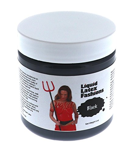 Liquid Latex Fashions Body Paint, Black, 4 -