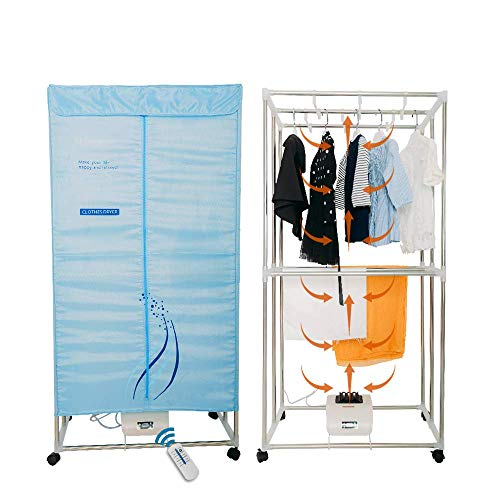 Concise Home Foldable Electric Clothes Dryer Stainless Steel Indoors Two...