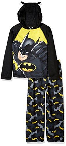 DC Comics Big Boys' Batman Hooded 2 Piece Jersey Sleep Set at Gotham City Store