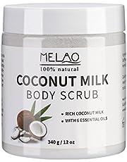 Body Scrub, Exfoliating Scrub Ultra-hydraterend en organisch, Striae, Voedende essentiële lichaamsverzorging Gladmakende huid.
