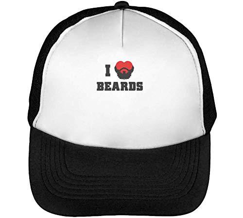 Snapback I Hombre Gorras Beards Negro Blanco Beisbol RRO7wq