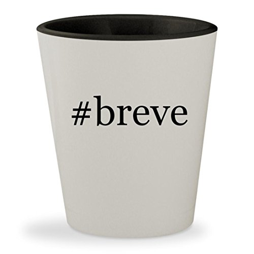 #breve - Hashtag White Outer & Black Inner Ceramic 1.5oz Shot - Black Culos Big