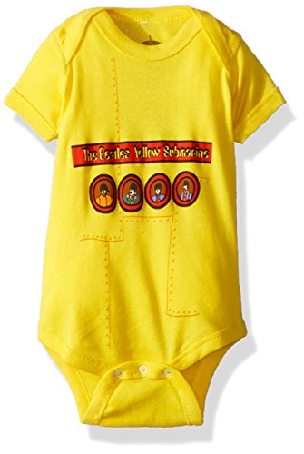 (Beatles 'Yellow Submarine' 2-Sided Yellow Onesie (6 Months))