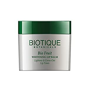 Biotique Bio Fruit Whitening Lip Balm lightens & Evens-Out Lip Tones 12gm