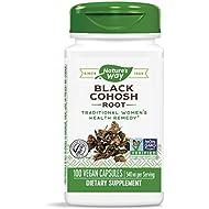 Nature's Way Black Cohosh Root 540 mg, 100 Vegetarian Capsules