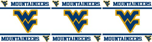 West Virginia Mountaineers NCAA Decor Wall Border 8 PACK (5 In by 15 Ft Per Pack = 120 Feet Total!) - Great for Playrooms, Basements or Mega-Sized Fancaves! - SAVE BIG ON BUNDLING! by Sports Coverage