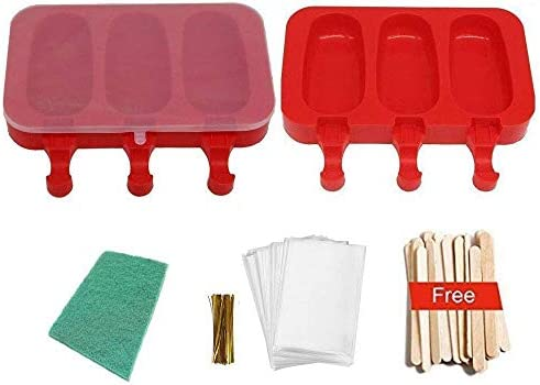 POLOFO 2 paquete de paletas de hielo moldes, moldes de polo de ...