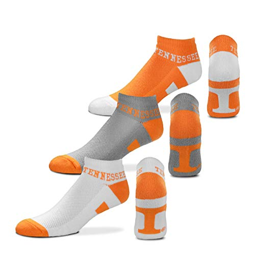 - For Bare Feet NCAA Mens Money Ankle Socks-3 Pack-Tennessee Volunteers