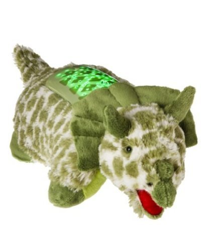 green triceratops pillow pet