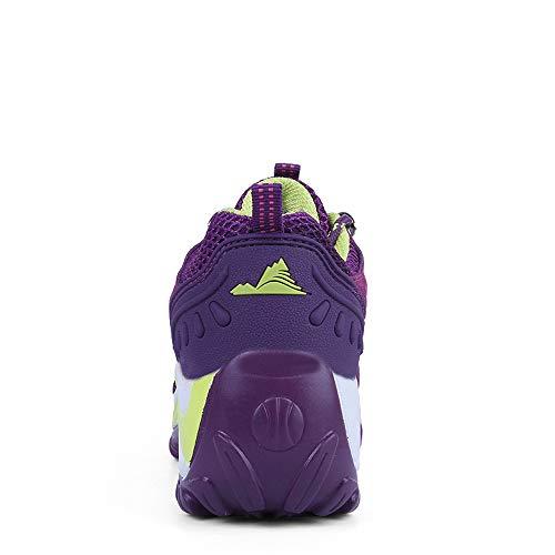 mit Nicht der Wellen Die Frauen Lila Laufenden Schuhe zufällige Greifen Ineinander Schuh Damen leichten Beleg Schuhe Breathable Schuhen erhöhen LIANGXIE Turnschuhe q6TxA