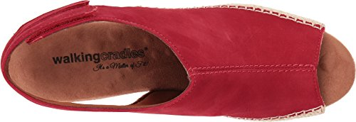 Red Anikka Walking Nubuck Cradles Espadrille Women's Wedge Sandal qgOEY