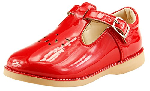 - The Doll Maker Girl`s T-Strap Mary JaneTD173043A-8 Red