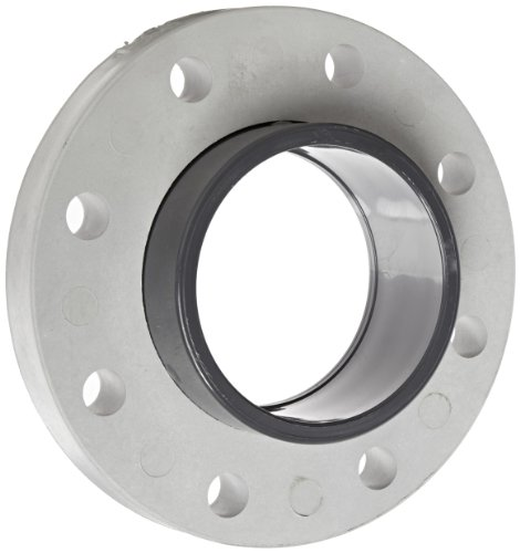 Spears 854-040 Glass-Filled PVC Pipe Fitting, Van Stone Flange, Class 150, Schedule 80, 4