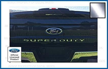 ford super duty trucks tailgate chrome letter insert