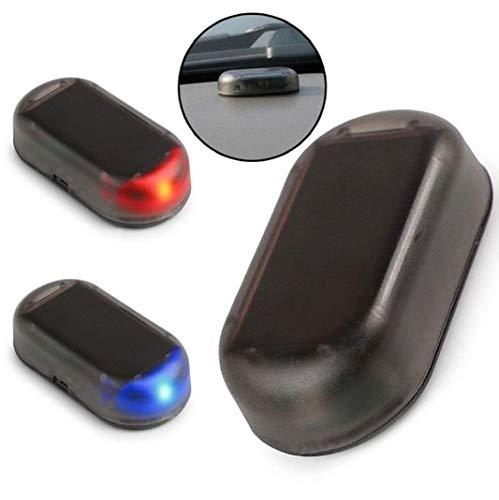 TRUE LINE Automotive Car Fake Alarm Warning Anti-Theft LED Flashing Security Light Solar Powered (Blue)