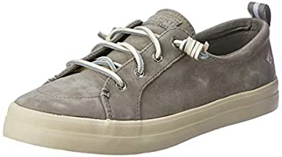 Sperry Crest Vibe Women's Washable Leather Court Shoes, Grey, 5 US