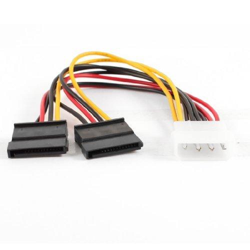 EbuyChX 20cm 4P Lalaki sa 2 Serial Ata Hard Drive SATA HDD Power Cable kurdon Adaptor