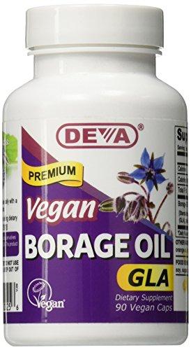 DEVA Vegan Vitamins Vegan Borage Oil 500 mg Vcaps, 90-Count Bottle Deva Vegan Borage Oil