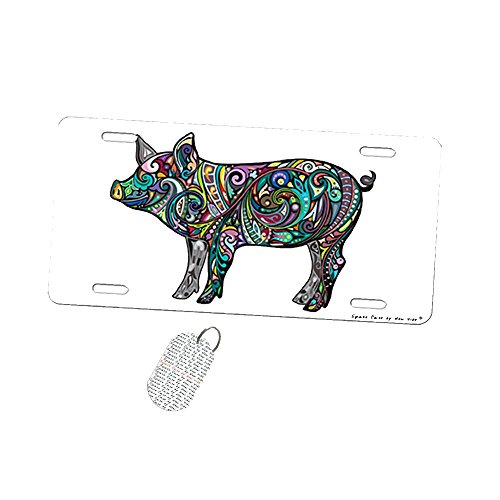 Pretty Piglet Pig - Car Tag License Plate by New Vibe